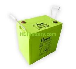 Batería Carbono - Gel 6 Voltios 256 Amperios-hora UP-CG256-6