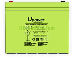 Batería Carbono - Gel 12 Voltios 100 Amperios UP-CG100-12 para caravanas y autocaravanas