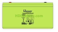 Batería Carbono - Gel 12 Voltios 150 Amperios UP-CG150-12 para caravanas y autocaravanas