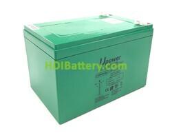 Batería Carbono - Gel 12 Voltios 18 Amperios UP-CG18-12 151x98x104mm para silla de ruedas