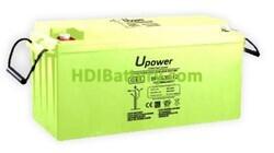 Batería Carbono - Gel 12 Voltios 200 Amperios UP-CG200-12 para caravanas y autocaravanas