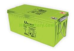 Batería Carbono - Gel 12 Voltios 256 Amperios UP-CG256-12 para caravanas y autocaravanas