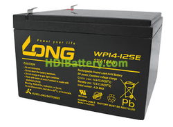 Batería de AGM 12 Voltios 14 Amperios Long WP14-12SE