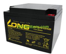 Batería de AGM 12 Voltios 26 Amperios Long WP26-12NB