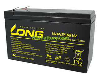 Batería de AGM 12 Voltios 9 Amperios Long WP1236W