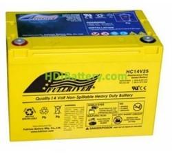 Batería de alta descarga Fullriver HC14V25 14V 25 Ah CCA 375A 260,4x164,2x182,9 mm