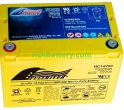 Batería de alta descarga Fullriver HC14V50 14V 50 Ah CCA 570A 260,4x164,2x182,9 mm