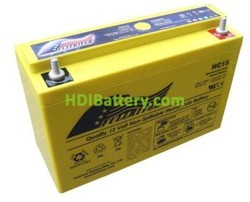 Batería de alta descarga Fullriver HC15 12V 15 Ah CCA 156A 200x78x138 mm
