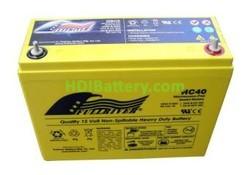 Batería de alta descarga Fullriver HC40 12V 40 Ah CCA 500A 250x97x206 mm