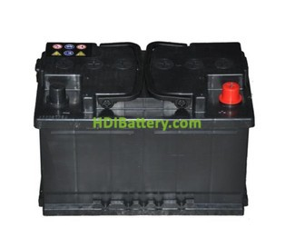 Batería de arranque 12V 70Ah TECH ITT70S.0 600A 278 x 175 x 175 mm