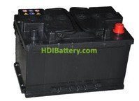 Batería de arranque 12V 75Ah TECH ITT75.0 700A  278 x 175 x 190 mm