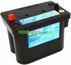 Batería de arranque AGM Exide 12v 50Ah 800A EK508