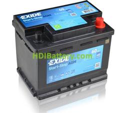 Batería de arranque AGM Exide 12V 60ah EK600