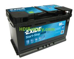 Batería de arranque AGM Exide 12V 80ah EK800