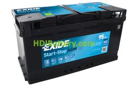 Batería de arranque AGM Exide 12V 95ah EK950