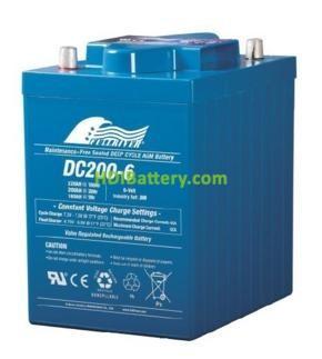 Batería de Ciclo Profundo Fullriver DC200-6B 6V 200 Ah 244x190x276 mm