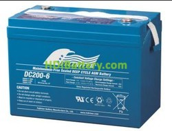 Batería de Ciclo Profundo Fullriver DC200-6 6V 200Ah 306x169x226 mm