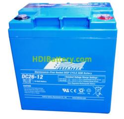 Batería de Ciclo Profundo Fullriver DC26-12A 12V 26Ah 166x126x174mm