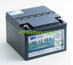 Batería de gel 12 Voltios 22 Amperios Sonnenschein GF12022YF 167X176X126 mm