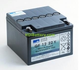 Batería de gel 12 voltios 22 amperios Sonnenschein GF 12 22 Y
