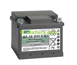 Batería de gel 12 Voltios 33 Amperios Sonneschein GF12033YG1 210mm (L) x 175mm (An) x 175mm (Al)