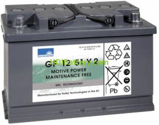 Batería de gel 12 Voltios 51 Amperios Sonneschein GF12051Y2 278mm x 175mm x 190mm