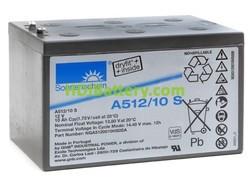 Batería de gel Sonnenschein A512/10S 12 Voltios 10 Amperios 152mm (L) x 98,4mm (An) x 98mm (Al)