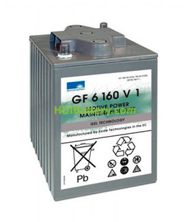 Batería de Gel Sonnenschein GF06160V1 6 Voltios 160 Amperios 246x192x275mm