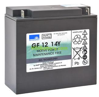 Batería de gel Sonnenschein GF12014YF 12 Voltios 14 Amperios 181mm (L) x 76mm (An) x 167mm (Al)