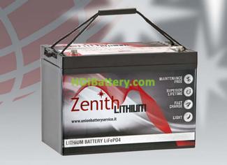 Batería de litio 12 voltios 100 amperios Zenith LiFePO4 307x169x215 mm