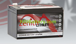 Batería de litio 12 voltios 12 amperios Zenith LiFePO4 150x99x101 mm