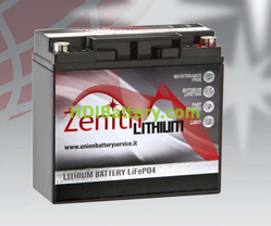 Batería de litio 12 voltios 20 amperios Zenith LiFePO4 180x75x170 mm