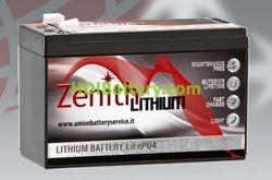 Batería de litio 12 voltios 9 amperios Zenith LiFePO4 150x65x95 mm