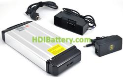 Batería de litio para bicicleta eléctrica 36V 9Ah + cargador y kit de montaje