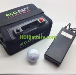 Bateria de litio para carro de golf 12V 22AH + kit de carga 36 HOYOS Eco-Batt
