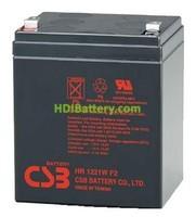 Bateria de Plomo 12 Voltios 5 Ah 21 Watios HR1221W CSB