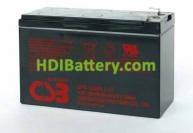 Batería de plomo 12 voltios UPS 123607 F2 (151x65x94mm)