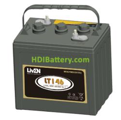Batería de plomo ácido abierto Liven LT146 6 Voltios 260 Amperios Ciclo profundo