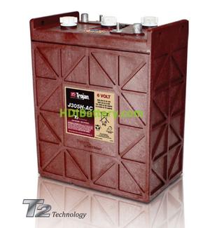 Batería de plomo ácido abierto Trojan J305H-AC 6V 360Ah Ciclo profundo