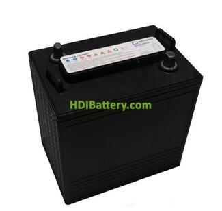 Batería de plomo ácido ciclo profundo 6v 225Ah 6DC-225 Q-Batteries 260mm (L) x 180mm (An) x 275mm (Al)