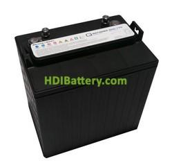 Batería de plomo ácido ciclo profundo 8v 170Ah 8DC-170 Q-Batteries 260mm (L) x 180mm (An) x 275mm (Al)