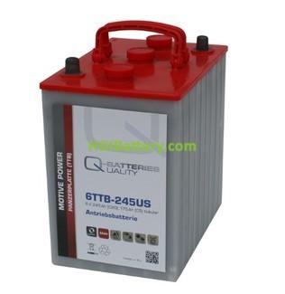Batería de plomo ácido con placa tubular 6v 245Ah Q-batteries 6TTB245 USA