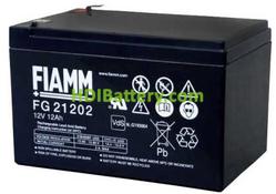 Batería de Plomo AGM 12 Voltios 12 Amperios FG21202 FIAMM