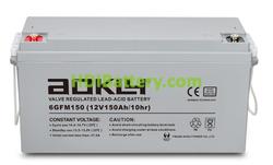 Batería de plomo AGM 12 Voltios 150 Amperios Aokly Power 6GFM150 ( 483 x 170 x 240 mm )