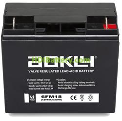 Batería de plomo AGM 12 Voltios 18 Amperios Aokly Power 6FM18 (181x77x167mm)