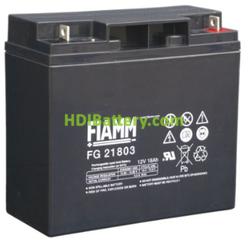 Batería de Plomo AGM 12 Voltios 18 Amperios FG21803 FIAMM