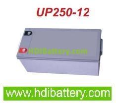 Batería de plomo AGM 12 voltios 250 amperios hermética monoblock de ciclo profundo U-POWER especial solar