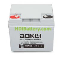 Batería de GEL 12 Voltios 33 Amperios AOKLY POWER 6-GFM-33G (196X131X170 mm)