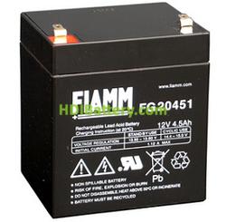Batería de Plomo AGM 12 Voltios 4.5 Amperios FG20451 FIAMM