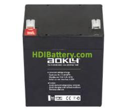 Batería de plomo AGM 12 Voltios 5 Amperios Aokly Power 6FM5 ( 90x70x101 mm )
